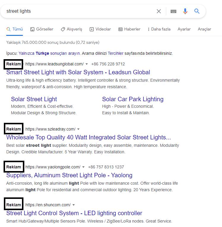 google ads arama ağı