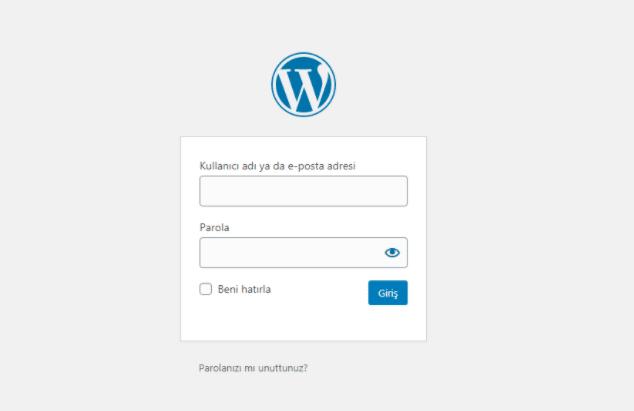 wordpress admin panel girişi