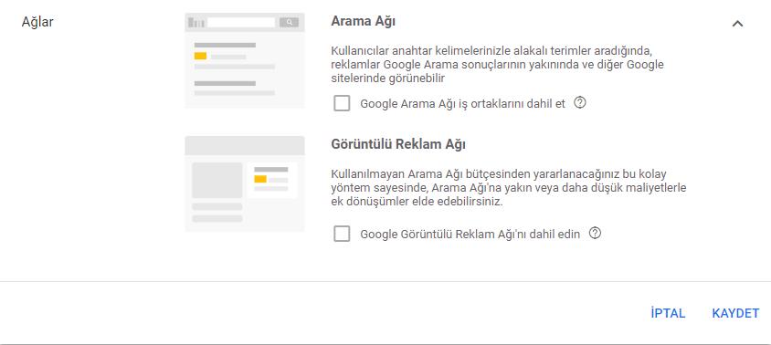 google arama ağı iş ortakları